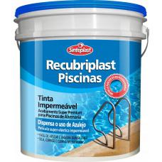 Tinta Piscina Impermeabilizante Azul Piscina 10l Recubriplast